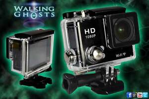 """GoPro """"Style"""" Full Spectrum Action Night Vision Wifi HD Video Camera Ghost Hunt"""
