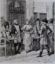 MOREAU ADRIEN, Memoires d'un volontaire, Anatole France, en souscription, plaque