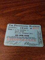 1940 PENNSYLVANIA RAILROAD PRR EMPLOYEE SYSTEM PASS #39902