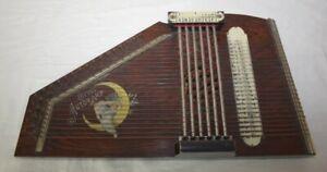 antike OTTOS AUTOHARP Zither Instrument mechanisches Zupfinstrument