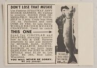 1957 Print Ad Sprayway Jiffy Muskie Harness Fishing Lures Rice Lake,Wisconsin