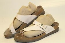 Mephisto Womens 38 8 Helen Textured Leather Toe Loop Sandals Thongs Shoes