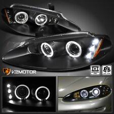 1998-2004 Dodge Intrepid LED Halo JDM Black Projector Headlights Left+Right