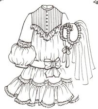 """See re-size chart Sewing Dress Clothes Pattern fits 27"""" 28"""" Himstedt dolls 998"""