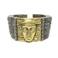 Kieselstein-Cord 'Women of the World' 18K Gold & S. Steel Cuff Bracelet (17614)