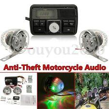 Motorcycle Bike ATV Audio System Anti-theif USB SD FM Radio Stereo MP3 Speakers