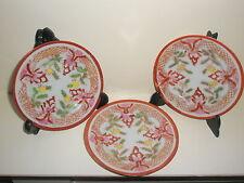 3 vintage Oriental Japanese/ Chinese plates
