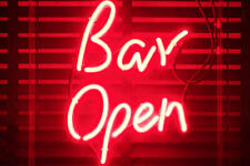 Red Bar Open Neon Sign Lamp Light Acrylic Beer Bar With Dimmer
