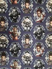 "New 100% Cotton 43"", Springs Creative, ""Wakanda Warriors"" Black Panther Marvel"