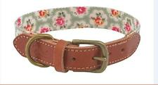 Cath Kidston Large Dog Collar Provence Rose Pet Leather Soft Touch