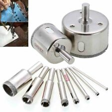 A pack of 10pcs- New Diamond drill bit hole saw kit for drilling glass marble