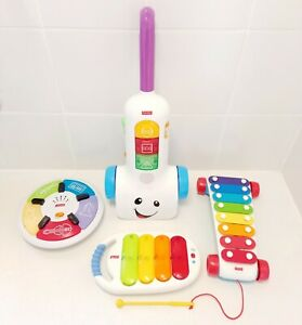 Fisher Price Interactive Musical Toys Music Centre, Vacuum Cleaner & Xylophones