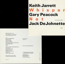 JARRETT PEACOCK DEJOHNETTE  whisper not  LIVE IN PARIS 1999 / 2 CDs