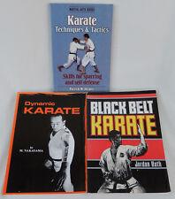 3 Books * Black Belt Karate * Dynamic Karate M. Nakayama * Techniques & Tactics
