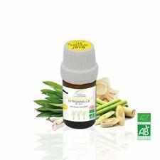 Huile Essentielle BIO Citronnelle de Java 5ml. ABLabel, Ecocert Bio 100 % Pure.