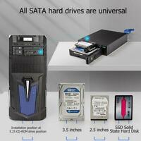 USB 3.0 2.5''/ 3.5'' 24TB SATA Hard Drive Internal Enclosure HDD Disk Caddy PC