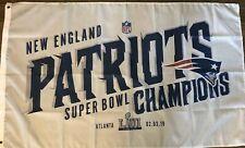 New England Patriots SUPER BOWL 53 CHAMPIONS FLAG 3x5 LIII White Banner FOOTBALL