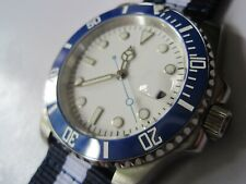 30M DIVERS SUBMARINERS GENTS AUTO MECHANICAL WATCH WHITE DIAL- SEIKO ALTERNATIVE