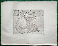 XVII ème - Dépt 56 - Rare Plan Ville du Palais à Belle île par de Fer 50x38 1692