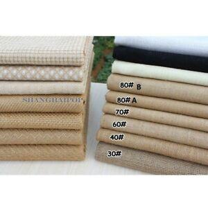 100% Eco Organic Flax Natural Linen Fabric Cloth Hemp Art Deco Plain Table Cloth