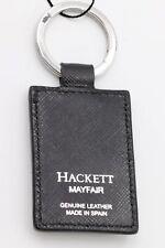 HACKETT KEYCHAIN KEYRING MAYFAIR BLACK PORTE-CLES LLAVERO LUJO PIEL LEATHER NEW