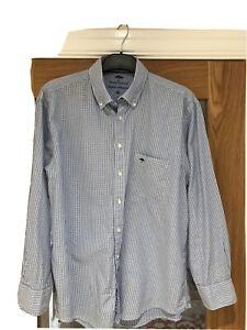 Men's Fynch & Hatton Blue Gingham Shirt XL /48 Immaculate