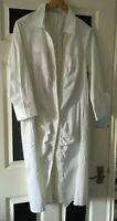 new white long Diego Reiga size 6 (UK 14-16)  £399  shirt  dress  designer .