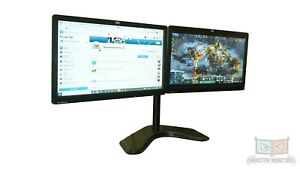 Matching Dual 19inch Monitor w/Heavy Duty Stand &Dock HP LE1901 Full HD