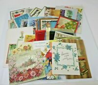 1950s to 1980s Vintage Used GREETING CARDS Lot Approx 70 Ct