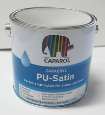 2,5 ltr Caparol Capacryl PU Satin Weiss Seidenmattlack Lack