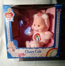 Vintage 1986 Care Bears Cubs Cheer Cub Plush Pacifier Flocked Face Original Box