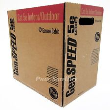 2 BOXES OF GENSPEED 1000 FEET WHITE Cat5e cable CMX 350mhz 24AWG SOLID COPPER