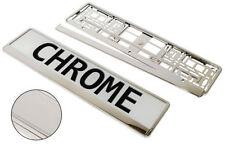 Supports de plaques de chrome pour automobile