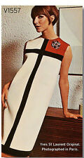 1966 Vintage VOGUE Sewing Pattern B31.5-38 MONDRIAN DRESS (1667) YVES ST LAURENT