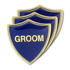 Groom Blue Wedding Shield Badge