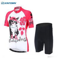 XINTOWN Outdoor Women Wear Cycling Clothing Bike Riding Jersey & Short Set S-3XL