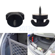 2 Universal Car Rear Trunk Envelope Cargo Net Tie Down Hook Ring Loop Hanging YG