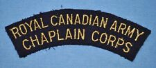 Royal Canadian Army Chaplain Corps Patch - WWII Occupation Era