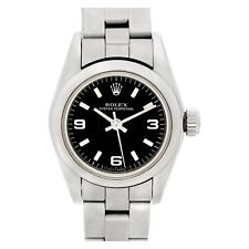 Rolex Oyster Perpetual 67180 stainless steel Black dial 25mm auto watch