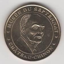 -- 2002 MEDAILLE JETON COIN MONNAIE DE PARIS -- 58 120 FRANCOIS MITTERRAND MUSEE