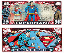Superman Million Dollar Bill #S19392015M Collectible Funny Money Novelty Note