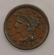 1856-P 1856 Liberty Head Large Cent 1c N-6 Upright 5 ICG MS63 BN