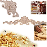 Unpainted Wood Carved Corner Onlay Applique Frame Home Decor Furniture Craft