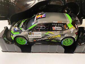 Skoda Fabia R5 Rally Condroz WRC Meeke Ixo 1:18 1/18 Modell Modellauto