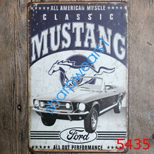 Metal Tin Sign classic mustang Pub Bar Home Vintage Retro Poster Cafe ART