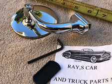NEW SINGLE 3 INCH ROUND VINTAGE STYLE PEEP MIRROR /CAN USE ON RIGHT OR LEFT SIDE