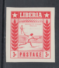 Liberia # 347 Imperf Proof Red ONLY MNH Sports Tennis