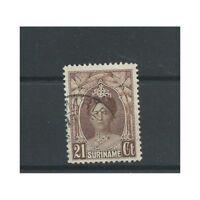 Suriname  122 Wilhelmina  21 ct  VFU/gebr   CV 23,5 €