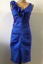 S L Fashions Dress Blue Iridescent Sleeveless Short Prom Cocktail Party Size 8