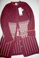 Noa Noa Long Strickjacke Cardigan August  Knit Burgundy  size: L   Neu